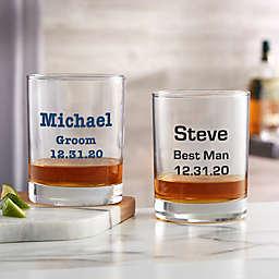 Groomsmen 14oz. Personalized Printed Whiskey Glass