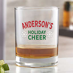 Holiday Cheer Personalized 14 oz. Printed Whiskey Glass