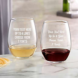 Write Your Own Engraved 21 oz. Stemless Wine Glass