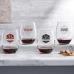 Retirement Personalized 21oz. Stemless Wine Glass