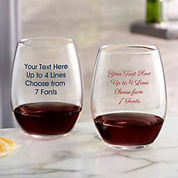 Write Your Own Custom Printed 21oz. Stemless Wine Glass