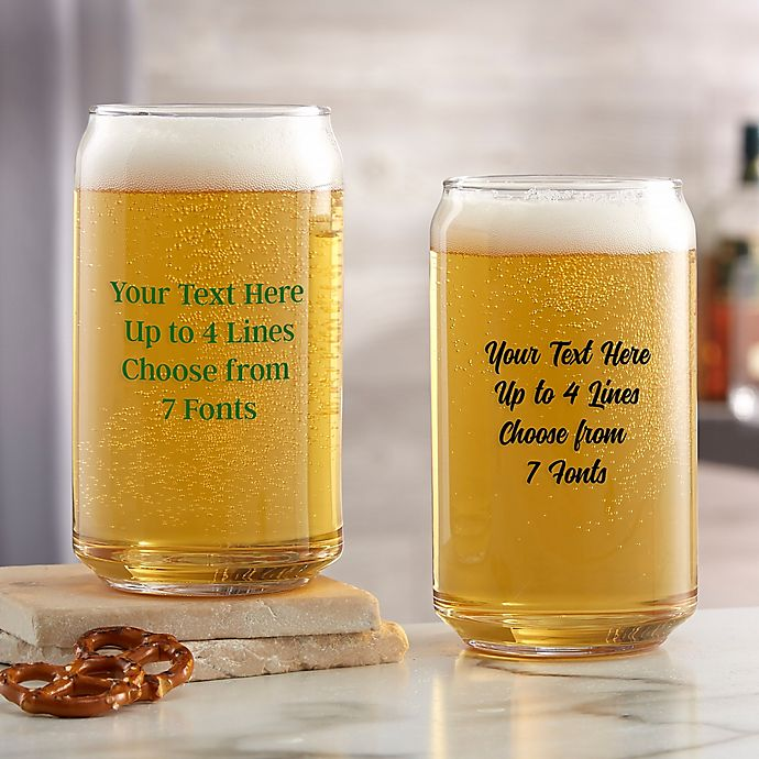 Alternate image 1 for Write Your Own Custom Printed 16 oz. Beer Can Glass