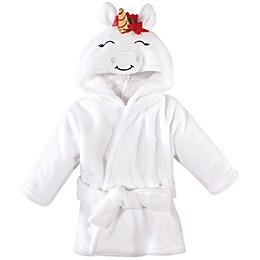 Hudson Baby® Size 0-9M Christmas Unicorn Bathrobe in White