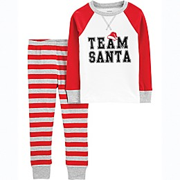 carter's® 2-Piece Team Santa Pajama Set