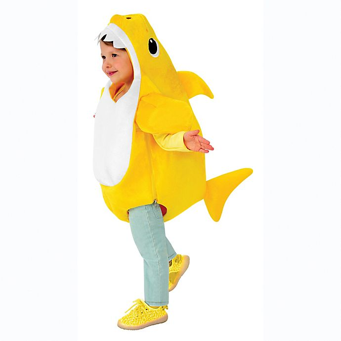 Alternate image 1 for Pink Fong Baby Shark Child's Halloween Costume in Yellow