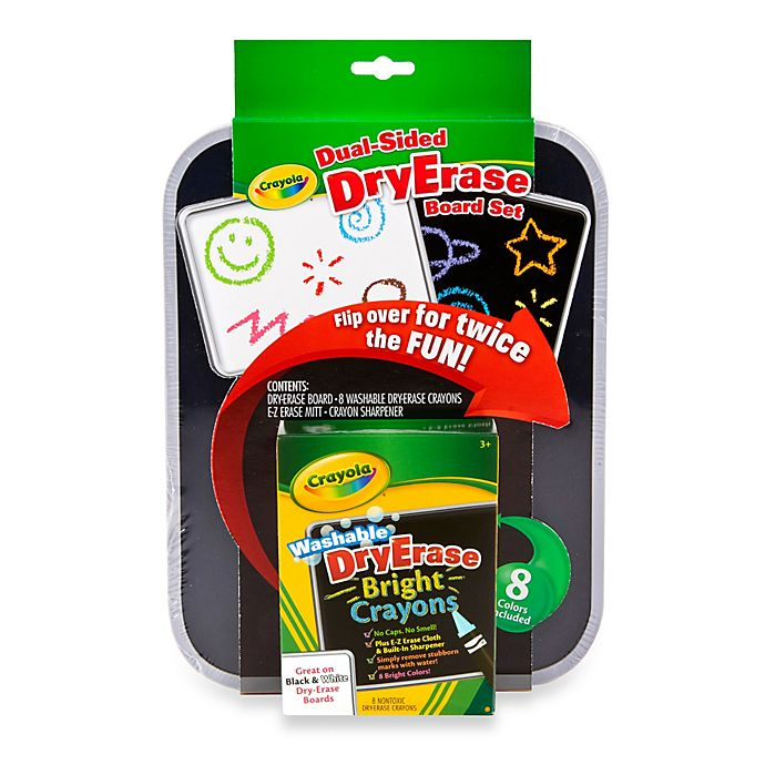Crayola 174 Dual Sided Dry Erase Board Amp Crayon Set Bed