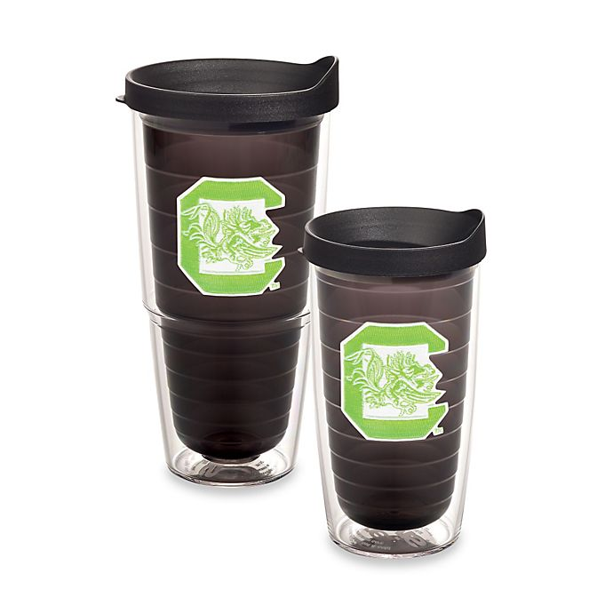 Alternate image 1 for Tervis® University of South Carolina Gamecock Tumbler with Lid in Neon Green