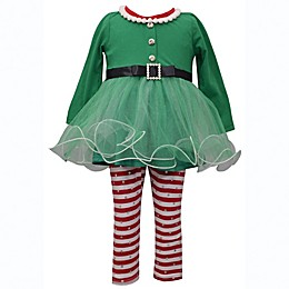 Bonnie Baby 2-Piece Elf Top and Legging Set in Green