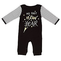 Baby Starters® First New Year Coverall in Black
