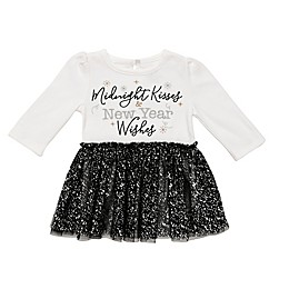 Baby Starters® Midnight Kisses Skirted Bodysuit in White/Black