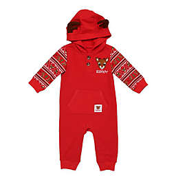 Baby Starters® Rudolph Hooded Coverall in Red