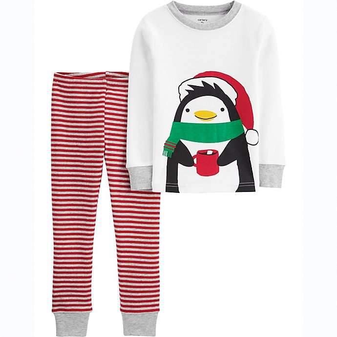 Alternate image 1 for carter's® 2-Piece Penguin Toddler Pajama Set
