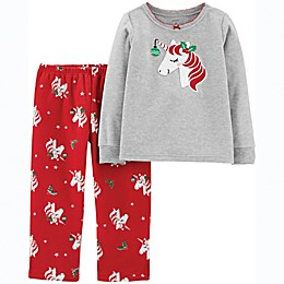 carter's® 2-Piece Unicorn Fleece Toddler Top and Pant Set