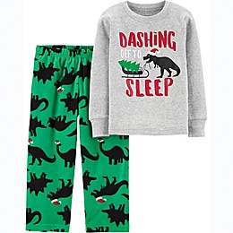 carter's® 2-Piece Christmas Dinosaur Toddler Pajama Set