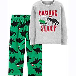 carter's® 2-Piece Christmas Dinosaur Toddler Pajama Set