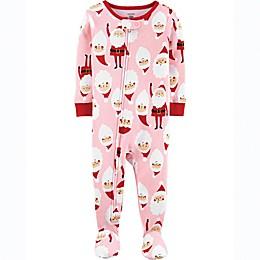 carter's® Santa Icon Toddler Footie in Pink