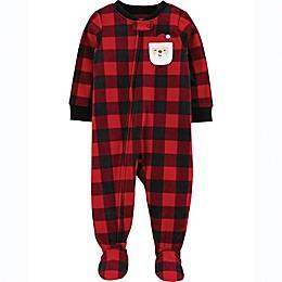 carter's® Buffalo Check Santa Toddler Footie in Red