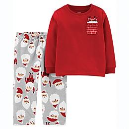 carter's® 2-Piece Santa Pocket Fleece Toddler Top and Pant Set