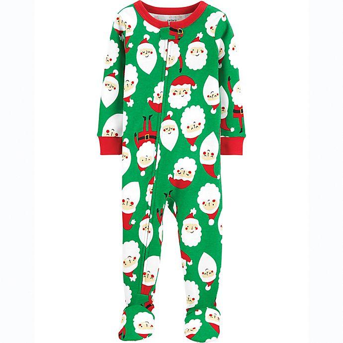 Alternate image 1 for carter's® Santa Toddler Footie