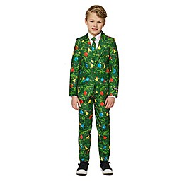 Suitmeister Boy's Lit Christmas Tree Suit in Green