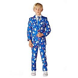 Suitmeister Boy's Sox Snowman Suit in Blue
