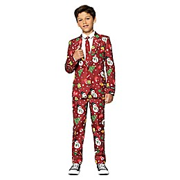 Suitmeister Boy's Lit Christmas Tree Suit in Red