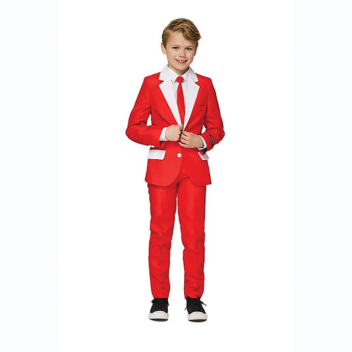 Alternate image 1 for Suitmeister Boy's Santa Outfit Christmas Suit in Red
