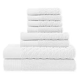 Jasper Haus Svala 6-Piece Bath Towel Set in White