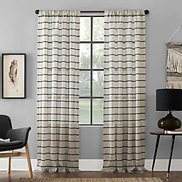 Clean Window® Twill Stripe Anti-Dust Rod Window Pocket Curtain Panel (Single)