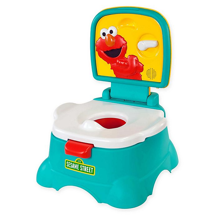 Alternate image 1 for Sesame Street® Elmo Hooray 3-in-1 Potty in Blue/Yellow