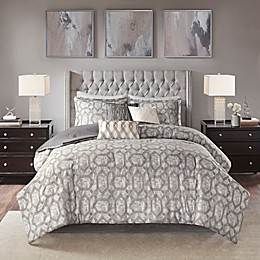 Madison Park Savannah Jacquard 3-Piece Reversible Duvet Cover Set