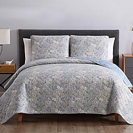 Sally Floral 3-Piece Reversible Quilt Set