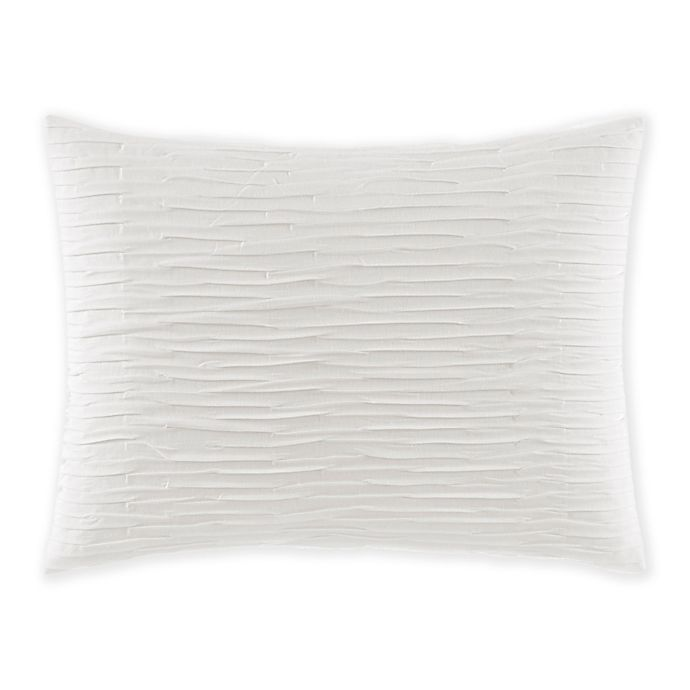 Alternate image 1 for VERA WANG TEXTURED PLEAT PILLOW 12\