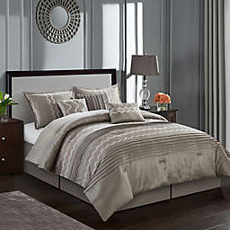 Nanshing Termon 7-Piece Queen Comforter Set in Taupe