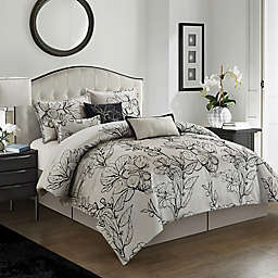 Nanshing Georgia 7-Piece King Comforter Set in Grey