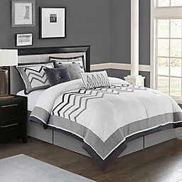 Nanshing Linnet 7-Piece Queen Comforter Set in White