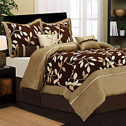 Nanshing Dussi 7-Piece King Comforter Set in Taupe