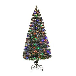National Tree Company Fiber Optic Evergreen Pre-Lit Christmas Tree with Multicolored Lights