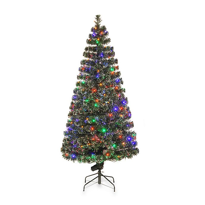 National Tree Company Fiber Optic Evergreen Pre-Lit ...