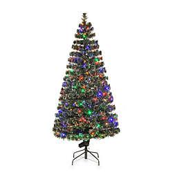 National Tree Company Fiber Optic Evergreen Pre-Lit Christmas Tree with Multicolored Lights