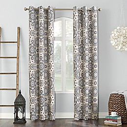 Sun Zero® Nepal Global Medallion Print Blackout Grommet Curtain Panel