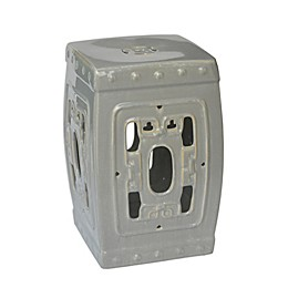 One Kings Lane Open House™ Ceramic Garden Stool in Grey