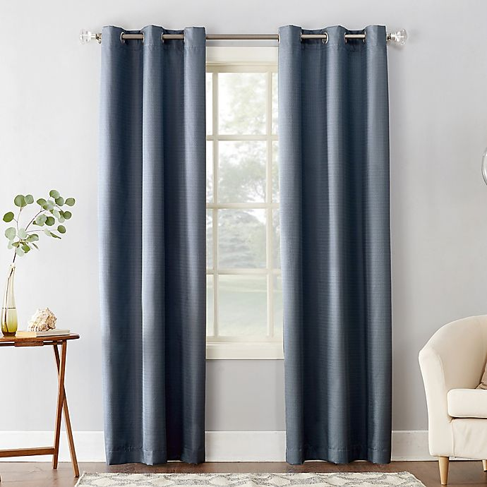 Alternate image 1 for Sun Zero® Cooper Thermal Insulated Room Darkening Grommet Window Curtain Panel