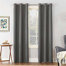Sun Zero® Cooper Thermal Insulated 63-Inch Room Darkening Window Curtain Panel in Charcoal