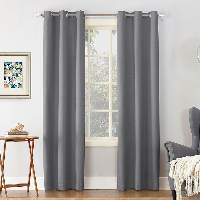 Alternate image 1 for Sun Zero® Cooper Thermal Insulated 84-Inch Room Darkening Curtain Panel in Grey (Single)