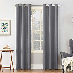 Sun Zero® Cooper Thermal Insulated 95-Inch Room Darkening Curtain Panel in Grey (Single)
