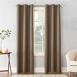 Sun Zero® Cooper Thermal Insulated 84-Inch Room Darkening Window Curtain Panel in Mocha