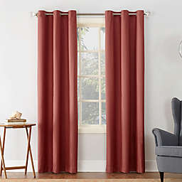 Sun Zero® Cooper Thermal Insulated 95-Inch Room Darkening Window Curtain Panel in Red