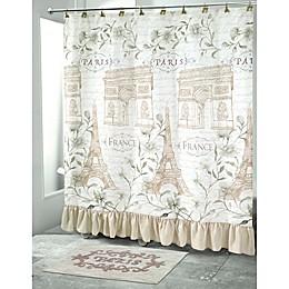 Avanti Paris Botanique Shower Curtain Collection