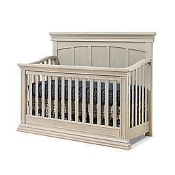 Sorelle Monterey Flat Top 4-in-1 Convertible Crib in Heritage Fog
